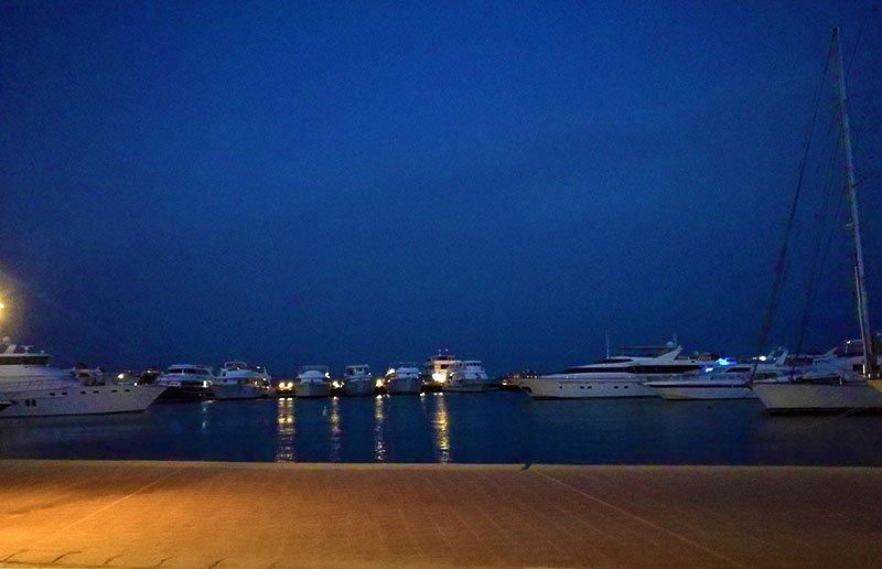 Uitzicht vanaf Hurghada Marina.