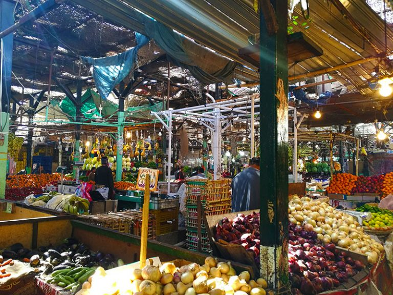 Fruit & vegetable market in El Dahar. Fish Market is located next to Hurghada marina.