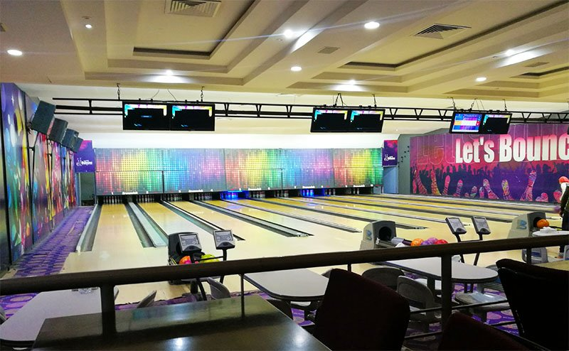 Inside Hurghada Bowling center