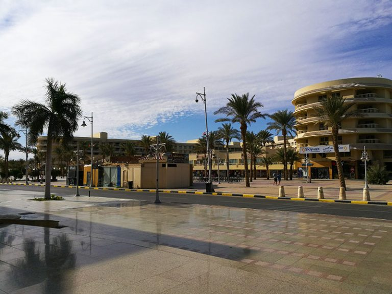 El Mamsha, touristic area in the city of Hurghada Egypt