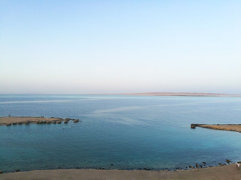 The view from Granada restaurant in Hurghada.