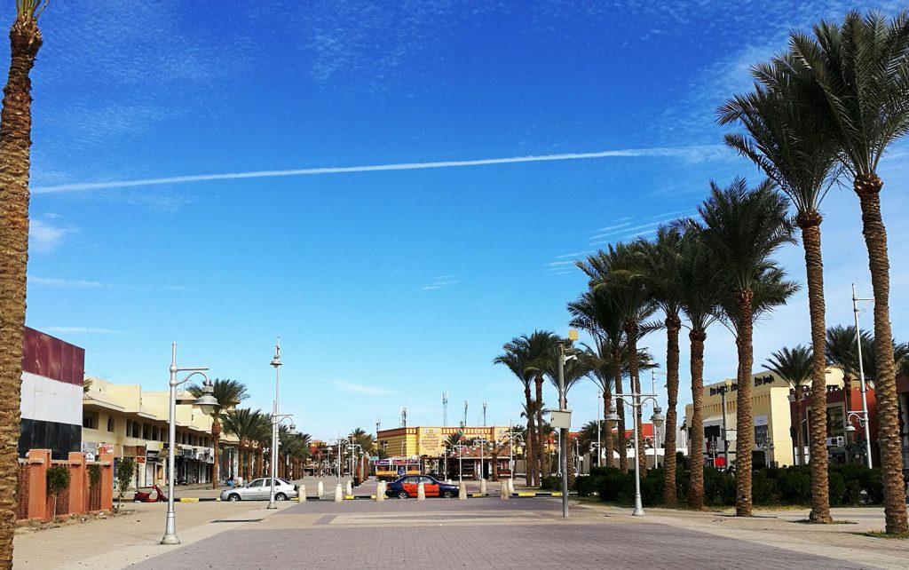 Mamsha sétányán Hurghada Egyiptom