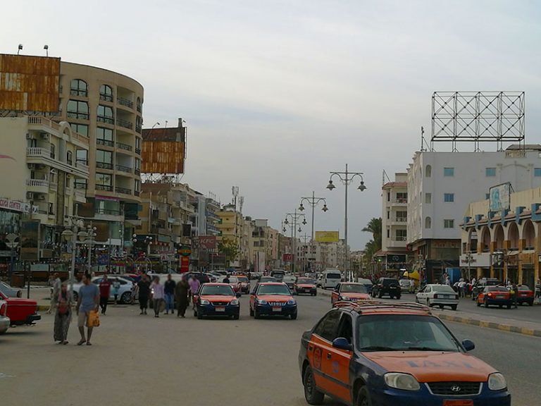 Sakkala is a busy area in Hurghada Egypt