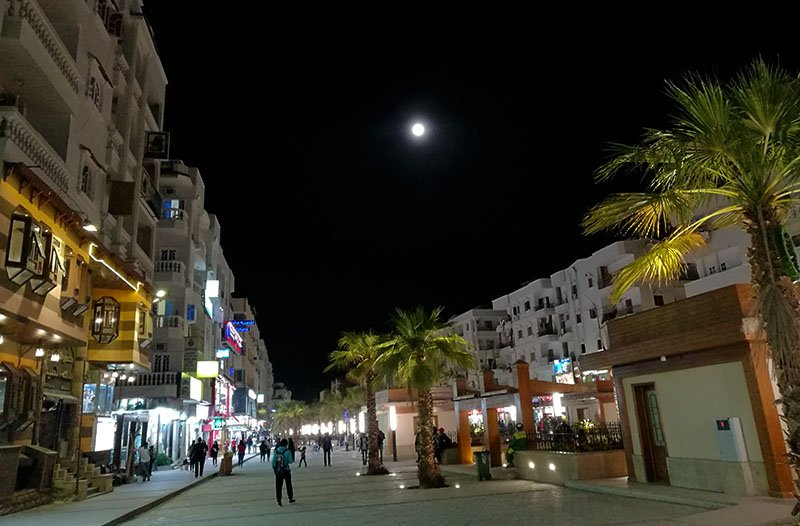 Sherry Street in Hurghada Egypt