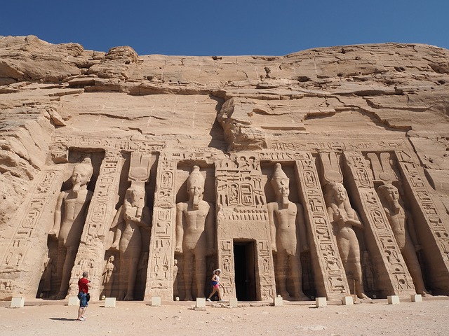 Abu Simbel sun festival is held twice a twice.